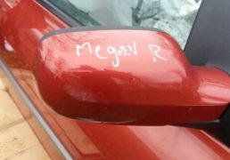Праве електричне червоне зеркало Рено Меган 2